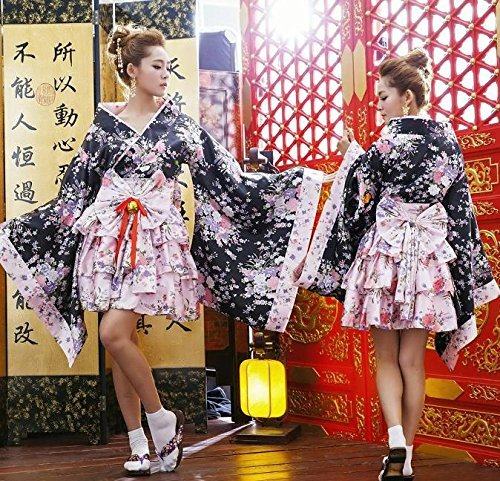 Kurtisane Kimono tabi Band mit Kostuem Damen one-size-fits-all (Tabis Kostüm)