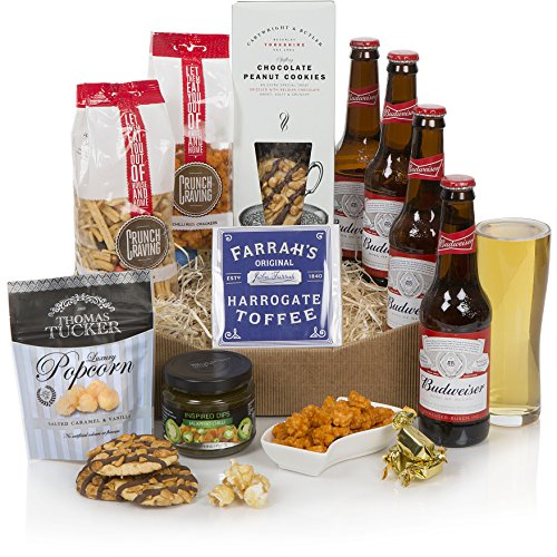 Beer Lovers Hamper - Food & Beer Gift For Him - Luxury Beer Gifts & Hampers For Men - Ideal For A Birthday Present