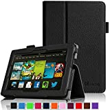 """Fintie Kindle Fire HD 7"""" (2013 Old Model) Slim Fit Folio Case with Auto Sleep / Wake Feature (will only fit Amazon Kindle Fire HD 7, Previous Generation - 3rd), Black"""