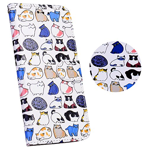 Coque Samsung Galaxy J3(2015)/J3 2016, Coffeetreehouse étui Housse de Protection PU Cuir + TPU Silicone Téléphone Portable Flip Phone Case Cover Coquille Coque pour Samsung Galaxy J3(2015)/J3 2016 - Un groupe de chats