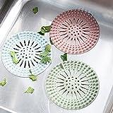 HENGSONG Silikon Abflusssieb Haarsieb Filter Sieb Küche Badezimmer Waschbecken Dusche Spüle Haare Sieb (Grün)