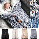 Yinuoday Baby Puckdecke für Neugeborene, Babys, Kleinkinder, dick gestrickt, weich, warm, Fleece, Pucksack, Schlafsack für Jungen und Mädchen