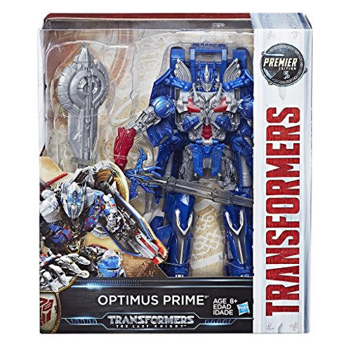 Transformers - optimus prime (l'ultimo cavaliere, premier edition leader class), c1339es0