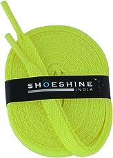 SHOESHINE florescent sport shoe lace flat shoelace (Set of 2 Pairs) Size S-150cm & 7mm W