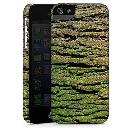 Apple iPhone X Silikon Hülle Case Schutzhülle Baumrinde Rinde Look Baum Holz Premium Case StandUp