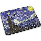 Van Gogh - Starry Night, Mouse Pad Tappetino per Mouse Mouse Mat con Disegno Colorato Antiscivolo in Gomma di Base Ideale per Giocare 250 x 190mm.