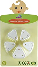 Adore 5 Pieces Baby Proofing electrical socket covers | Child safety electric socket cover | Best quality child proofing electrical socket covers | Baby safety electric outlet cover ( White )
