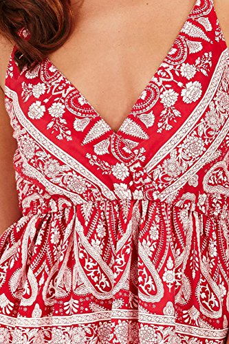 Pistachio - Robe - Femme rouge/blanc