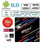 PHANTIO H96 MAX+ Smart TV Box - Jio TV Hotstar Android 9.0 Bluetooth HDMI2.1 Rockchip RK3328 Quad-core CPU Penta-core...