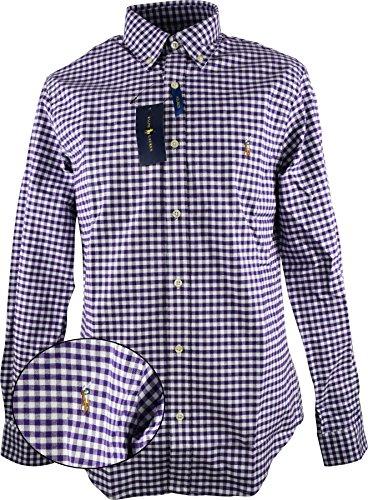 Ralph Lauren Polo Purple/White Herren Hemd Button Down Größe XL