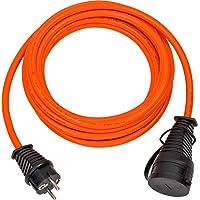 Brennenstuhl BREMAXX Verlängerungskabel (5m Kabel in orange, für den Einsatz im Außenbereich IP44, Stromkabel einsetzbar…