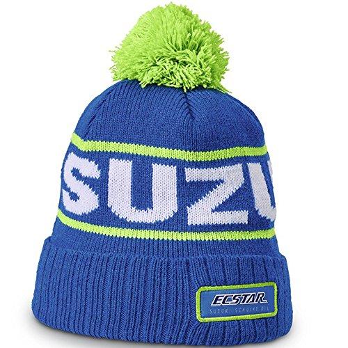 Suzuki KRT Winter Beanie ! Wollmütze ! Mütze blau weiß