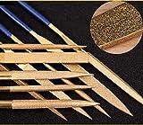 10 PZ Set di lime per ago in titanio rivestito in titanio per chitarra Tasti in metallo morbido in legno e plastica (140MM, Glod)
