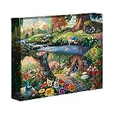 Thomas Kinkade Disney Alice nel Paese delle Meraviglie 20,3x 25,4cm Galleria Avvolto Canvas