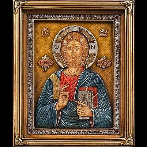 Extraordinary beautiful religious Christian Orthodox Icon of Jesus Christ named