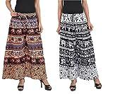 MRV FASHION Women's Cotton Printed Plazoo Pants (Multicolour)