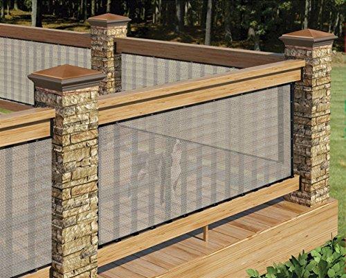 Liveinu Balkonbespannung Balkon Sichtschutz Windschutz Sichtblende UV-Schutz Witterungsbeständig Gartensichtschutz UV 75% HDPE-Spezialgewebe Balkonverkleidung 85x600cm Gelb