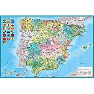 Grupo Erik Editores   Poster Mapa España Fisico Politico