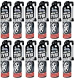 12x latas de espuma de reparación de neumáticos, sella y hinchar neumáticos, para el cuidado del coche