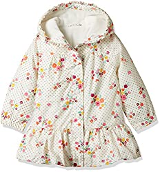 Mothercare Baby Girls Jacket (F7716_Cream_6-9 months)