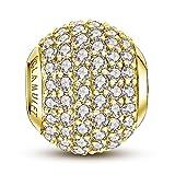 glamulet Charm Perle en argent sterling 925Serties de cristaux pour bracelets Pandora Chamilia