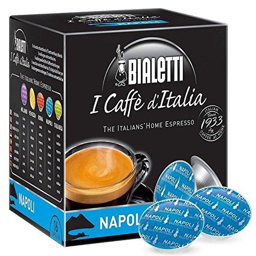 16 CAPSULE MOKESPRESSO BIALETTI ALLUMINIO I CAFFE' D'ITALIA MISCELA NAPOLI