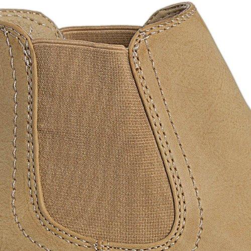 CASPAR - Bottines classiques pour femme - bottines Chelsea - 3 coloris - SBO025 Camel