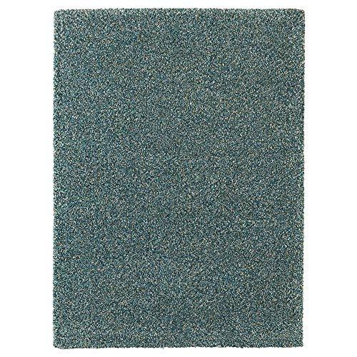 MBI Teppich Hochflor blau-grün Größe aufgebaut 270 cm Breite 200 cm Dicke 30 mm