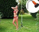 Douche extérieure GARDEN & GO ! Structure extensible jusqu'à 225 cm pour le jardin et la piscine 538201- MWS1669