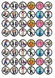 48super Mario Bros commestibili Premium spessore zuccherato vaniglia, wafer Rice Paper mini cupcake topper, cake pops, Cookies
