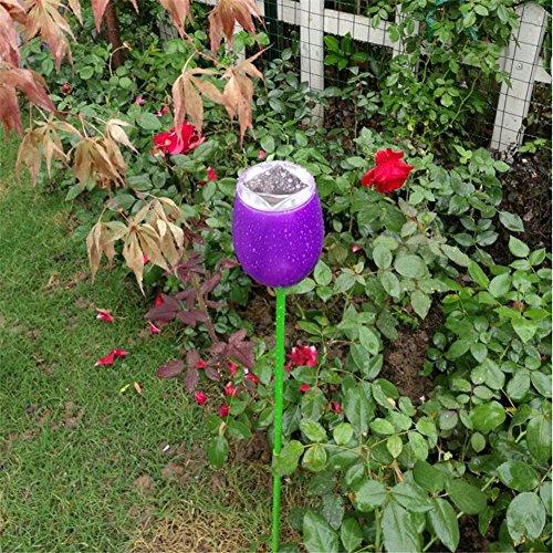 HomJo Solar LED Garden Spotlight Solar-Lampe im Freien Garten Rasen Lampe Landschaft bunte Laterne Home wasserdichte Lampe , 3