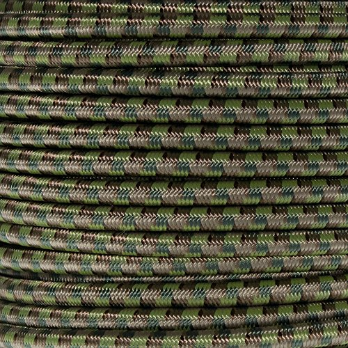 Elastic Cord Crafting Stretch String with Various Colors - Choose from 10, 25, 50, and 100 Feet, Made in USA ()