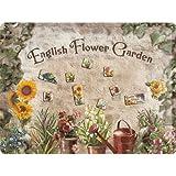 Nostalgic-Art 25004 Home & Country - English Flower Garden, Magnettafel 30x40 cm inkl. 9 Magneten