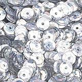 efco rund-Pailletten, Silber Hologramm, 6mm, 40g, 4000-piece
