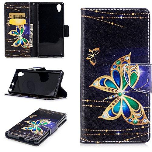 Lomogo Sony [Xperia XA1 Plus] Hülle Leder mit Muster, Schutzhülle Brieftasche mit Kartenfach Klappbar Magnetverschluss Stoßfest Kratzfest Handyhülle Case für Sony Xperia XA1 Plus - LOBFE10127#4