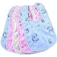 BRANDONN Fashions Newborn Double Layered Waterproof Button Bibs Multicolor