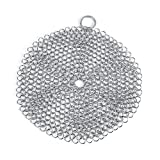Pot Scrubber, acciaio inossidabile Cast Iron Cleaner o Chainmail Scrubber Rust Proof Raschietto Cleaner per ghisa Pentola Pentola