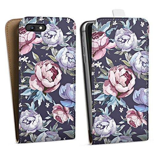 Apple iPhone X Silikon Hülle Case Schutzhülle Blumen Rosen Geschenk Downflip Tasche weiß