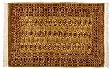 Lifetex.eu Teppich Buchara Pakistan ca. 200 x 120 cm · Braun · handgeknüpft · Schurwolle · Klassisch · hochwertiger Teppich · LT13509