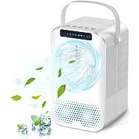 Climatiseur Portable, 600ML Climatiseur Mobile, Refroidisseur d'air, 4 en 1 Ventilateur de Bureau Personnel…