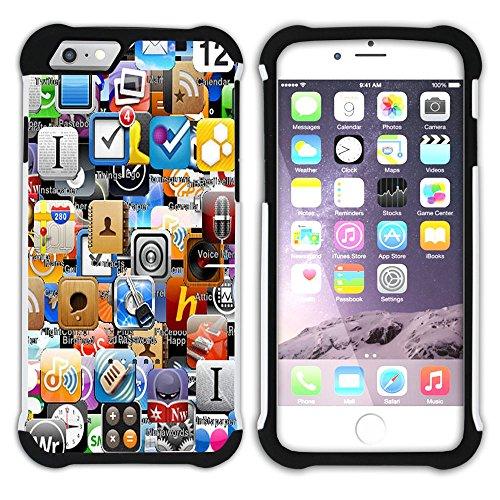 Graphic4You Paint Brush Palette Design Hart + Weiche Kratzfeste Hülle Case Schale Tasche Schutzhülle für Apple iPhone 6 Plus / 6S Plus Design #2