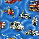 Notfall Fahrzeuge Stoff–Notfall Fahrzeuge