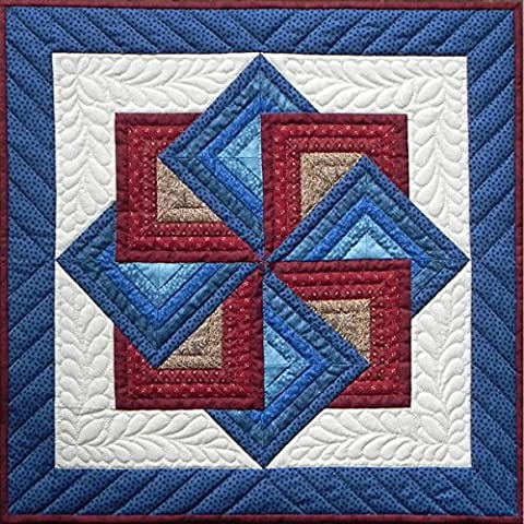 Rachel's Of Greenfield Rachel's of Greenfield Starspin Wall Quilt Kit, 22-Inch x 22-Inch