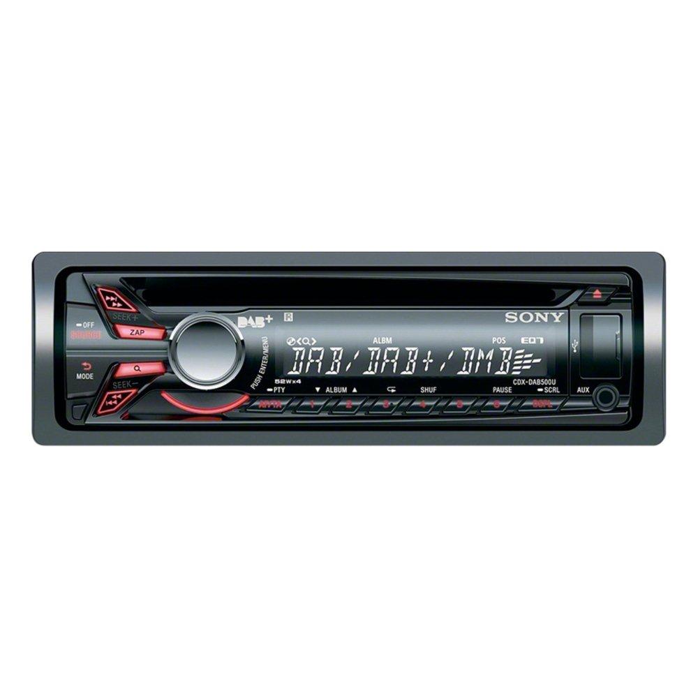 sony cdx dab500u cd mp3 dab digital radio usb aux in ipod iphone sony cdx dab500u cd mp3 dab digital radio usb aux in ipod iphone stereo amazon co uk electronics