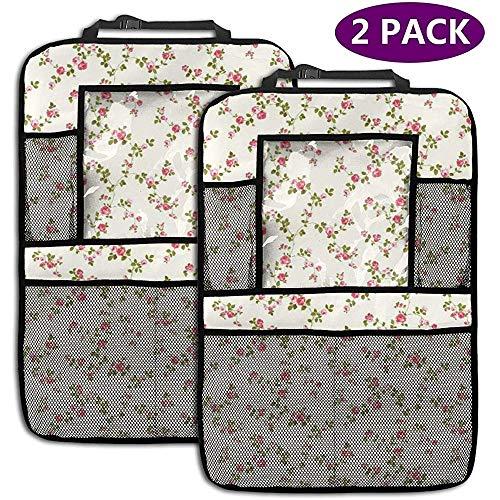 Yellow Floral 2er-Pack Rückenlehnenschutz für Autositze
