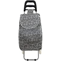 Shopping Trolley on Wheels Lightweight 2 Wheel Large Capacity Shopping Trolley Bag Aid Mobility with support bar and zipper pocket 94 x 34 x 30 cm