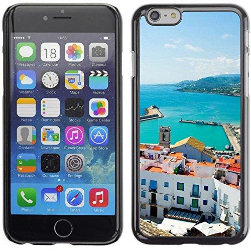 Graphic4You Barcelona Spain Traffic Postkarte Ansichtskarte Design Harte Hülle Case Tasche Schutzhülle für Apple iPhone 6 Plus / 6S Plus Peniscola