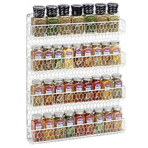 Huhn Draht Spice Rack weiß 20 Jar Spice Rack