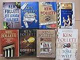 Paket Ken Follett: Die Tore der Welt. Das Zweite Gedächtnis. Die Leopardin. Die Pfeiler der Macht. Die Säulen der Erde. Eisfieber. Der dritte Zwilling. Die Kinder von Eden. (8 Bücher)!