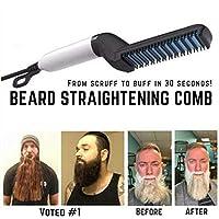 99native Men Quick Beard Straightener Comb Multifonctionnel Cheveux Curling Curler Voir Cap Outil